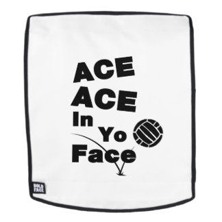 Volleyball Funny ACE ACE In Yo Face Backpack