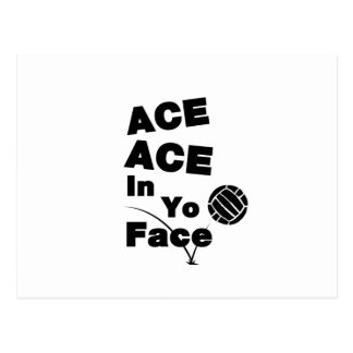Volleyball Funny ACE ACE In Yo Face Postcard