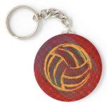 Volleyball Geometric Keychain