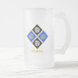 Volleyball Gift Frosted Glass Beer Mug