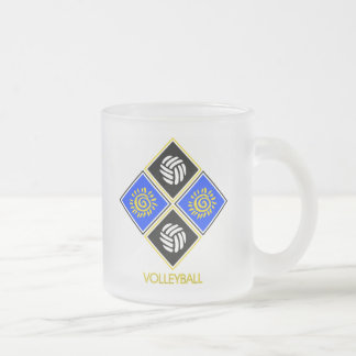 Volleyball Gift Frosted Glass Coffee Mug