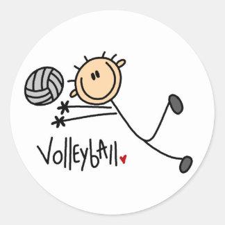 Volleyball Gift Round Sticker