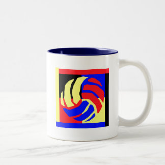 Volleyball Gift Two-Tone Coffee Mug