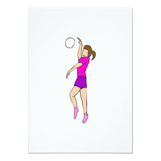 Volleyball Girl Card