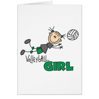 Volleyball Girl Cards