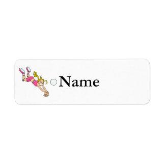 Volleyball Girl Dive Return Address Label