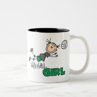 Volleyball Girl Two-Tone Coffee Mug