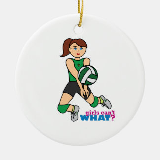 Volleyball Girl Christmas Ornaments