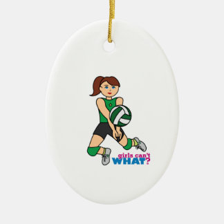 Volleyball Girl Christmas Ornament