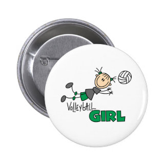 Volleyball Girl Pinback Button