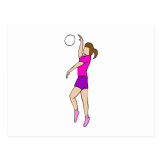 Volleyball Girl Postcard