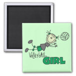 Volleyball Girl Tshirts and Gifts 2 Inch Square Magnet