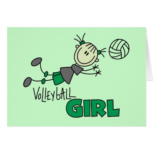 Volleyball Girl Tshirts and Gifts Card