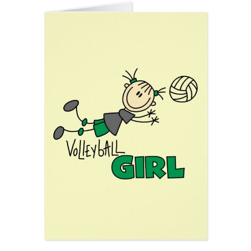 Volleyball Girl Tshirts and Gifts Greeting Card