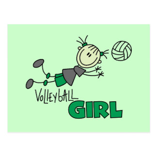 Volleyball Girl Tshirts and Gifts Post Cards