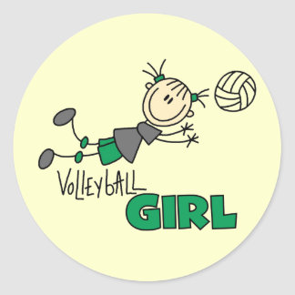 Volleyball Girl Tshirts and Gifts Round Sticker