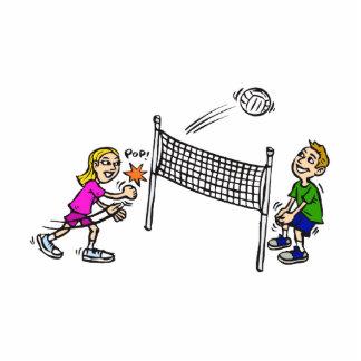 Volleyball girl vs boy cutout