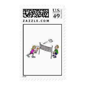 Volleyball girl vs boy postage
