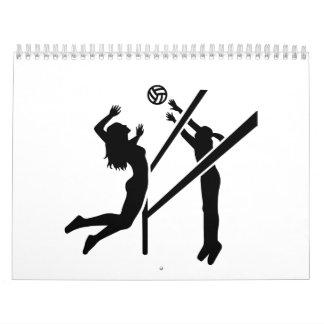 Volleyball girls calendar
