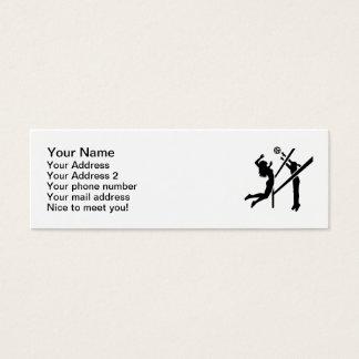 Volleyball girls mini business card