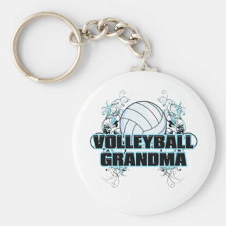 Volleyball Grandma (cross).png Key Chains