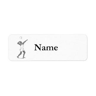 Volleyball Gray Serve Return Address Label