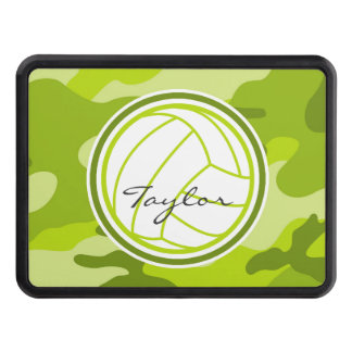 Volleyball; green camo, camouflage hitch cover