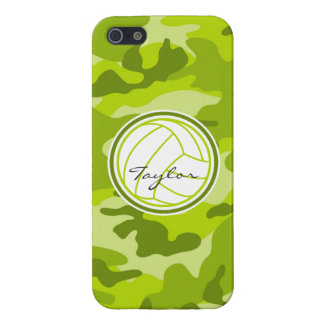 Volleyball; green camo, camouflage iPhone 5 cover