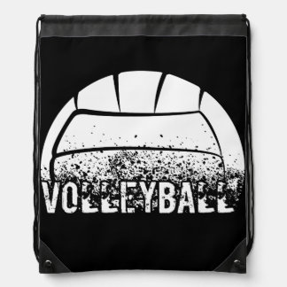 Volleyball Grunge Drawstring Backpack
