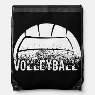 Volleyball Grunge Drawstring Bag