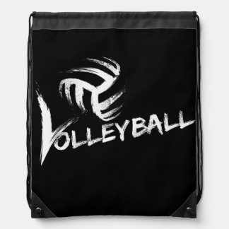 Volleyball Grunge Streaks Drawstring Bags