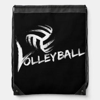 Volleyball Grunge Streaks Drawstring Bags