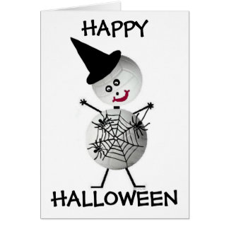 Volleyball Halloween Card