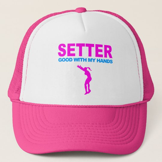 Volleyball Hat: Setter - Good With My Hands Trucker Hat