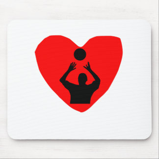 Volleyball Heart Mouse Pad