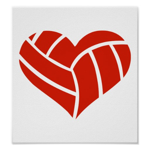 Volleyball heart poster