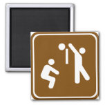 Volleyball Highway Sign Fridge Magnet