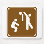 Volleyball Highway Sign Mouse Mats