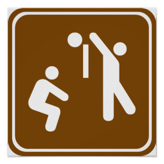 Volleyball Highway Sign Poster