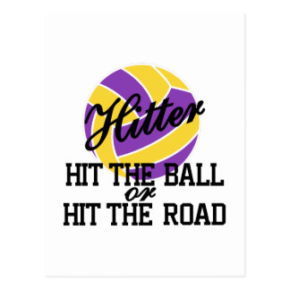 Volleyball Hitter Postcard