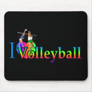 volleyball i heart mouse pad