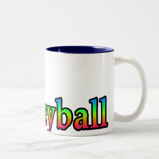 volleyball i heart Two-Tone coffee mug