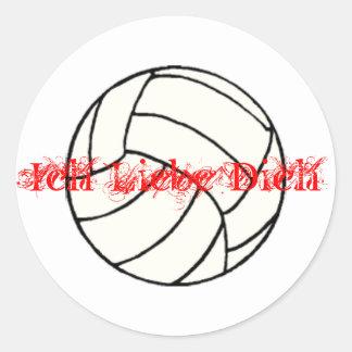 volleyball Ich Liebe Dich Sticker