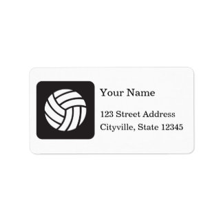 Volleyball Icon Address Label