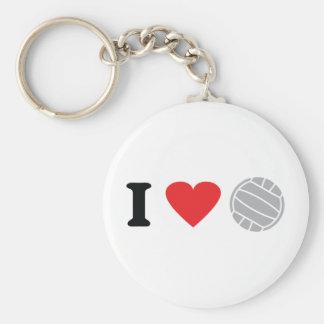 volleyball icon basic round button keychain