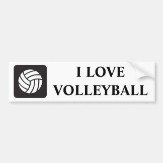 Volleyball Icon Bumper Sticker