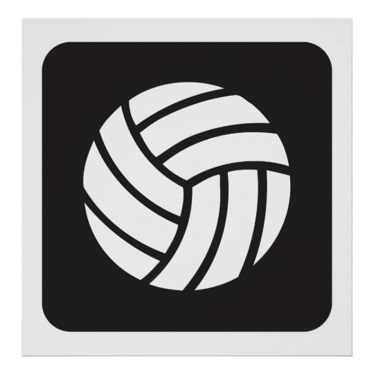 Volleyball Icon Poster