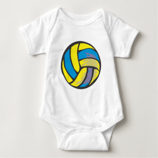 Volleyball in Hand-drawn Style Baby Bodysuit