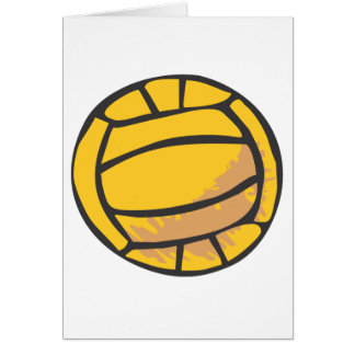 Volleyball in Hand-drawn Style Card