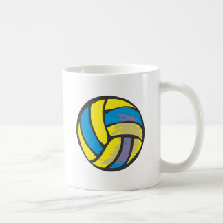 Volleyball in Hand-drawn Style Coffee Mug